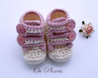 Baby sneakers, crochet toddler sneakers, baby sport shoes, baby infant booties for girls, baby shoes for boys, athletic shoes, baby booties