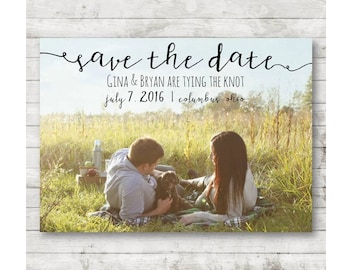 Save the Date ~ Personalized Save the Date ~ Save the Date Invitation ~ Wedding Printable ~ Save the Date Printable ~ Digital Download
