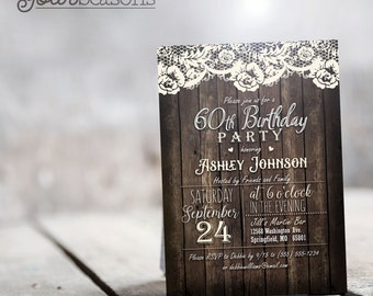 Country Birthday Party Invitation - Personalized Printable DIGITAL FILE