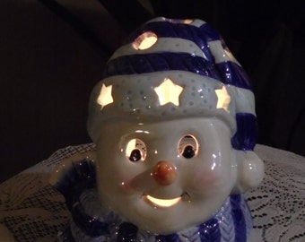 Adorable Tea Candle  Clown With Stars, And Circles