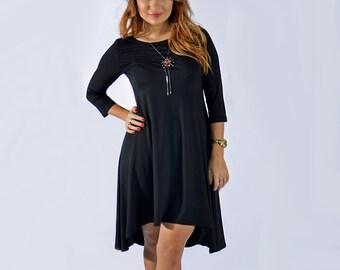 Dress No. 301 3/4 sleeve in black