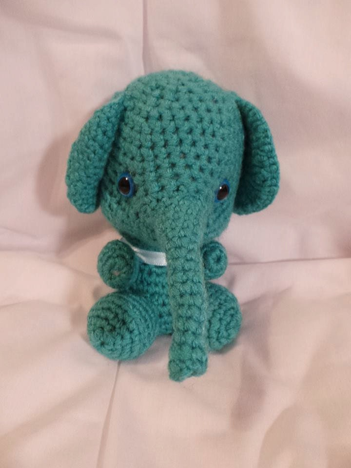 Crochet Elephant Doll : Crochet elephant Elephant toy Soft toy by NadyasNookCrochet
