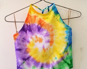 Medium Hayhoo (Factorie) Earth Core Halter Tie Dye