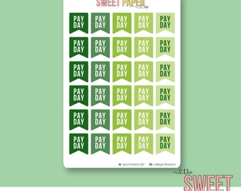 Payday Flag Planner Stickers