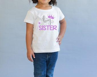 Big Sister Shirt - Big Sister Gift -Big Sister Little Sister - Princess Shirt - Pregnancy Announcement - New Baby