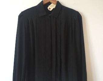 vintage black blouse