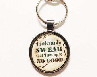 "Harry Potter ""I solemnly swear I am up to no good"" Keychain"