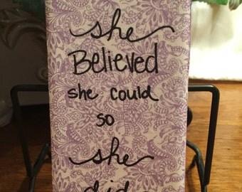 Wall Decor -Cute Quotes -Purple -Ceramic Tile -Decorative Sign -Home Decor