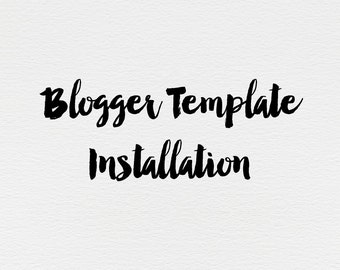 Blogger Template Installation Including Widgets-Gadgets | Add on