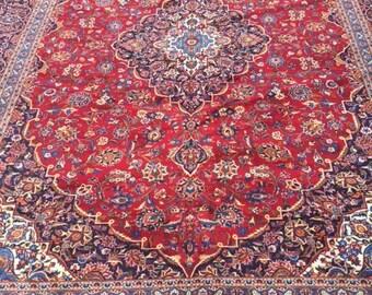 11' x 15' New Persian Kashan Oriental Rug - Hand Made - 100% Wool