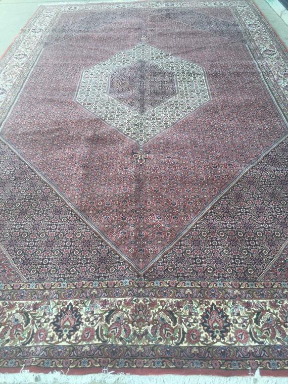 """10'1"""" x 16'1"""" Persian Bijar Oriental Rug - 400 KPSI - Fine - Hand Made - 100% Wool"""