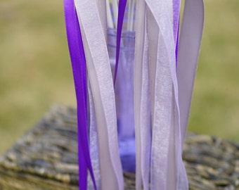150 Wedding Ribbon Wands with Satin & Organza Ribbon / Wedding Ceremony Ribbon Wand / 3-Strand Ribbon Wands / Organza Ribbon Wand / Send Off