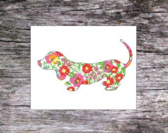 Weiner Dog Decal, Dog Decal, Puppy Decal, Animal Decal, Car Decal