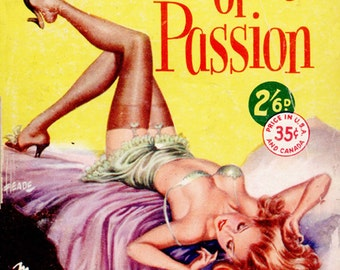 pulp art print Plaything of Passion — vintage pulp paperback cover repro