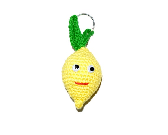 Amigurumi Lemon : Keichain lemon amigurumi. Lemon or lime toy. Amigurumi food.