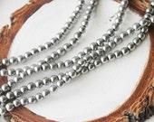 4mm Silver Round Hematite Gemstone Silver Gemstone Beads Jewelry Supply