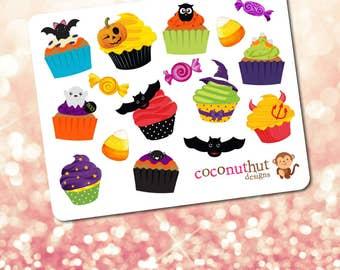 Halloween Cupcakes & Candy Mini Planner Sticker Sheet