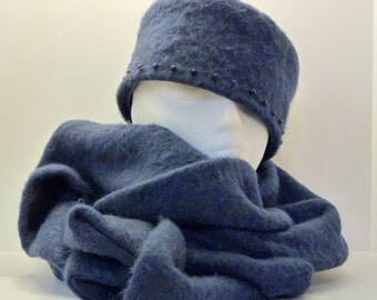 Hat - Classic Pillbox Hat with matching scarf