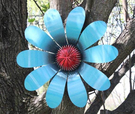 Outdoor Metal Flower Garden Decor Hand Cut Metal Flower