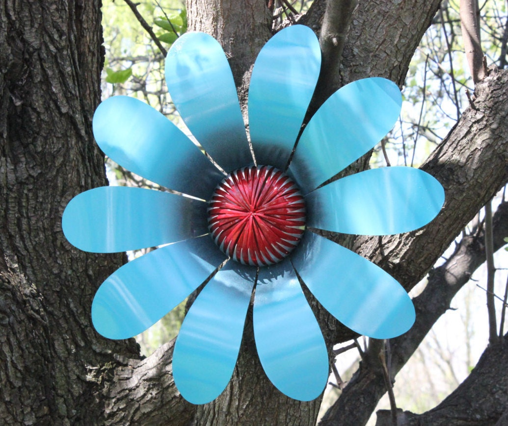 Outdoor Metal Flower Garden Decor Hand Cut Metal Flower