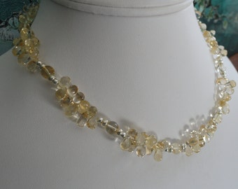 Citrine necklace and earring set   -   #455