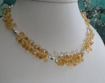 Citrine necklace and earring set   -   #456