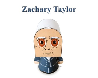 President Zachary Taylor Paper Toy Model w/Movable Parts
