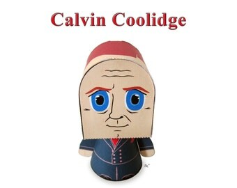 President Calvin Coolidge Paper Toy Model w/Movable Parts