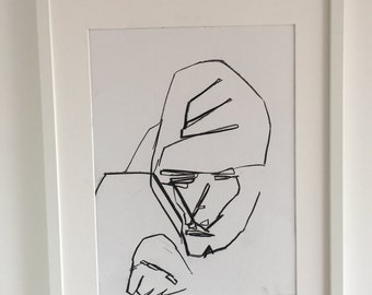 Original drawing of an abstract Gorillas face 2