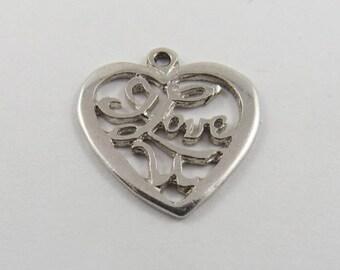 I Love U Silver Charm of Pendant.