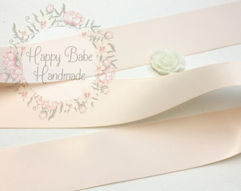 Nude Ribbon, Nude Satin Ribbon, 1--1/2 inch, Double Faced Ribbon, Satin Ribbon, Blush Nude Ribbon, Wedding Ribbon, Double Face, Pay Per Yard