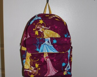 Kids Backpack, Toddler Backpack, Preschooler Backpack, Disney Princesses Backpack, Disney Princess, Disney Princesses, Bell, Cinderella,