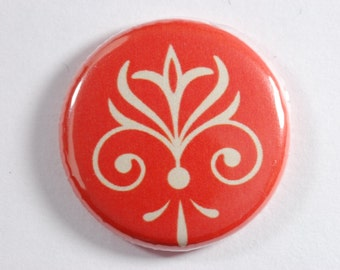 magnets/ set of 4/ red and beige