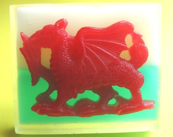 WELSH SOAP ~ Handmade in Wales ~ Unique Gift Soaps ~ Welsh Flag & Daffodil Fragrance Soap
