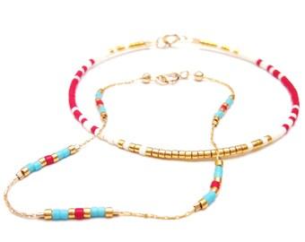 layering bracelet layering gold chain bracelet delicate bead bracelet gold stack bracelet