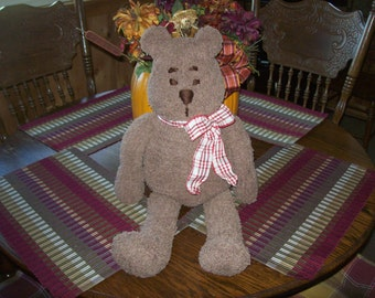 Bear,Hand Knit,Gift,Photo Prop,Babies,Toddlers,Adults,Children,Brown,Stuffed,Toys,Presents,Christmas,Birthday