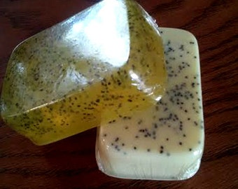 Soap - Lemon Poppy Seed - 5 oz soap - Bar Soap