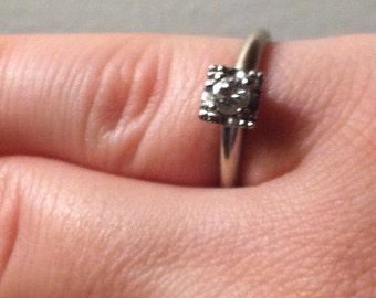 Vintage Diamond Engagement Ring-- Size 5 1/2--