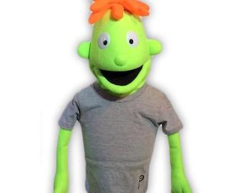 Hand Puppet - Black Light Boy Professional Puppet #1 - Customizable