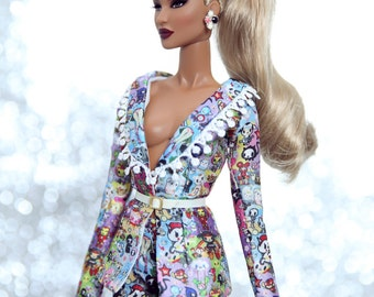 tokidokki suit for fashion royalty , Poppy Parker, Silkstone Barbie, fr2 , 12'' Fashion Doll
