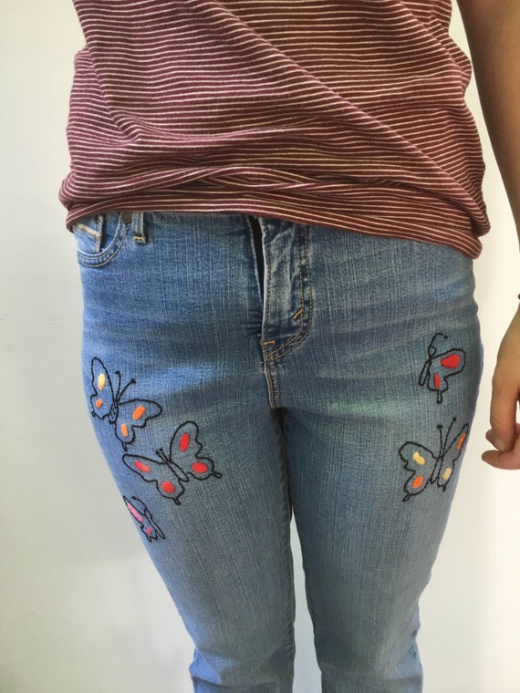 Embroidered levi jeans denim by