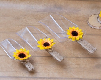 Candy Bar Scoops Sunflower Wedding Candy Scoop Set Candy Buffet Scoops wedding decoration