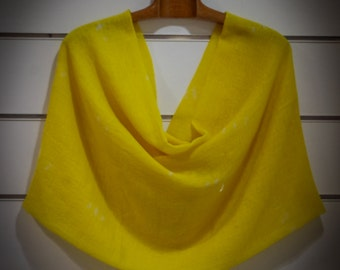 Stole, scarf, scarf, wool and silk, yellow...