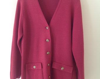 Pink cardigan, vintage cardigan, pink jacket, vintage jacket, 90's clothing, pink cardigan, ladies clothing, vintage clothing