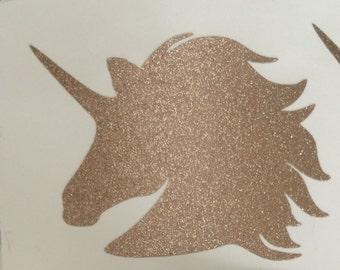 Glitter Unicorn sticker, MacBook decal, Laptop Glitter sticker, glitter decals, shiny decal, unicorn stickers, girls laptop decal, car decal
