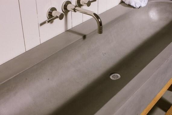 Concrete Orb Trough Bathroom Sink