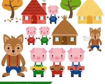 Three little pigs | Etsy
