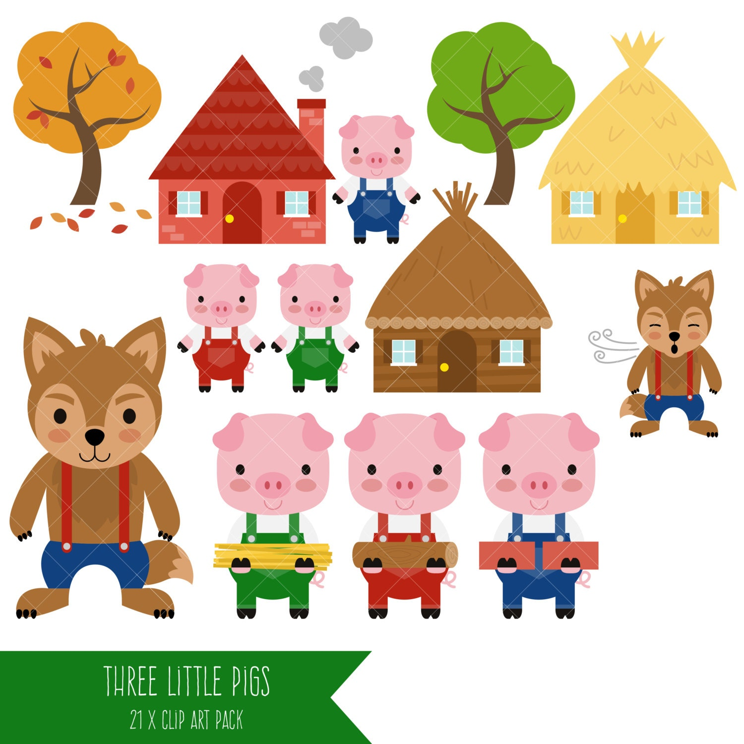 the gallery for  gt  three little pigs clipart 3 little pigs houses clipart 3 little pigs clipart free