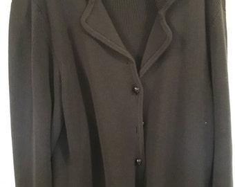 Black Plus Size Cardigan Sweater...Hampshire Studio