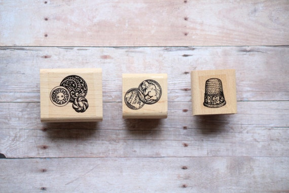 Small Detail Rubber Stamps Set Of 3 Seamstress By